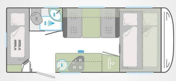 Weinsberg Cara One 480 QDK - Plano - Distribución