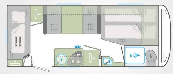 Weinsberg Cara One 500 FDK - Plano - Distribución