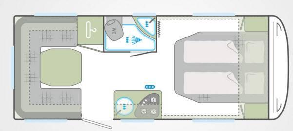 Weinsberg Cara One 500 XU - Plano - Distribución