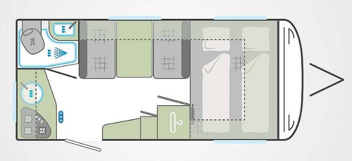 Weinsberg Cara One 420 QD - Plano - Distribución