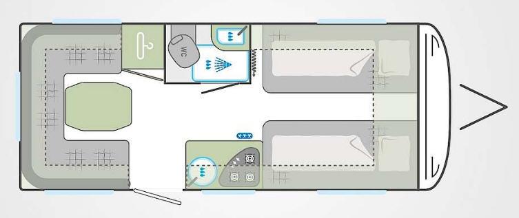 Weinsberg Cara One 480 EU - Plano - Distribución