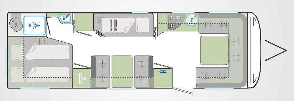 Weinsberg Cara One 740 UDF - Plano - Distribución