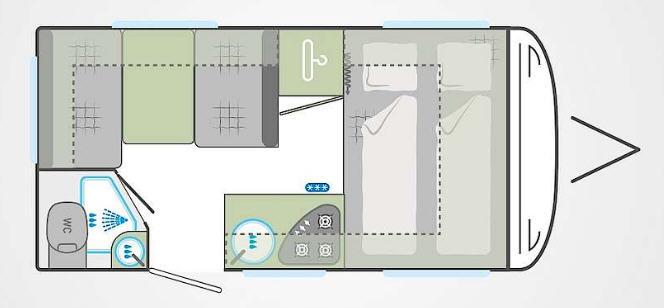 Weinsberg Cara Two 390 QD - Plano - Distribución