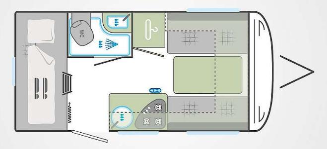 Weinsberg Cara Two 400 LK - Plano - Distribución