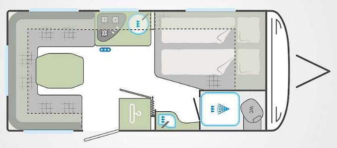 Weinsberg Cara Two 450 FU - Plano - Distribución