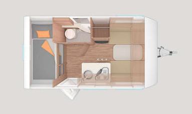 Weinsberg CaraOne 400 LK - Plano - Distribución