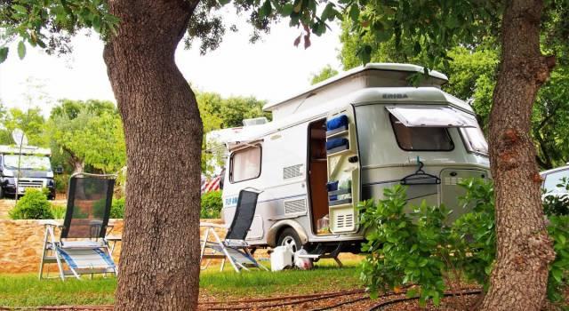 parcela del camping Alquézar