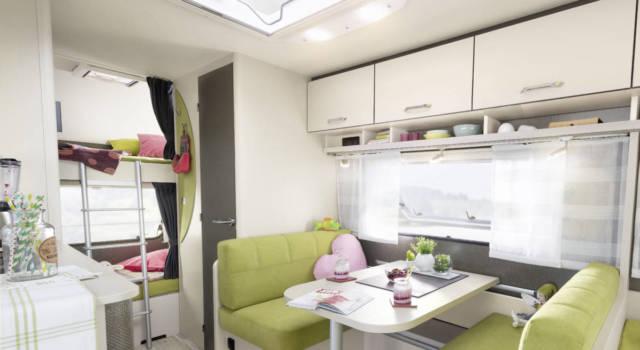 Dethleffs interior caravana