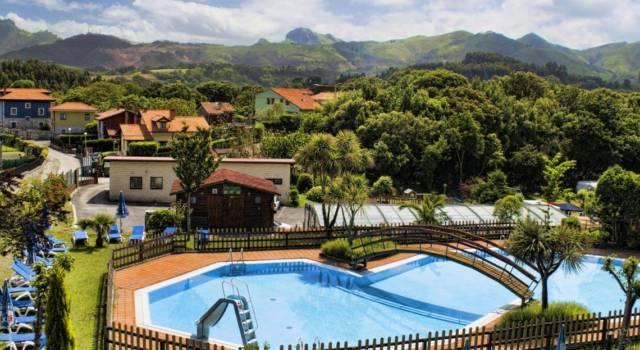 vista panoramica camping Ribadesella