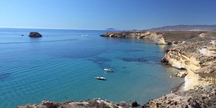 Playa del Puerto de Mazarrón (Murcia).