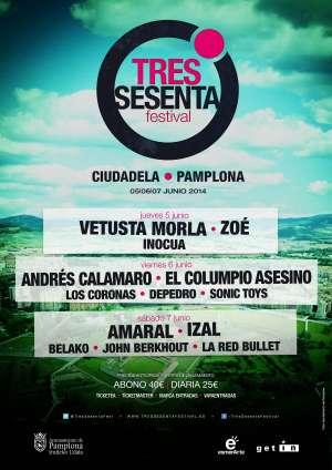 Cartel del «Tres Sesenta Festival» de Pamplona.