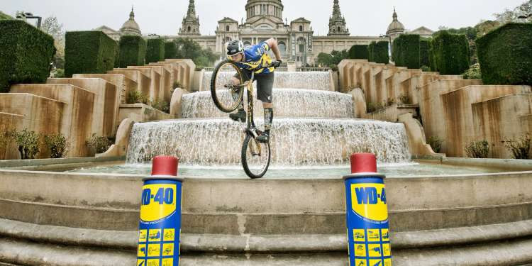 Dani Comas, exhibición de biketrial.