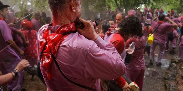 Batalla del vino en Haro, La Rioja.