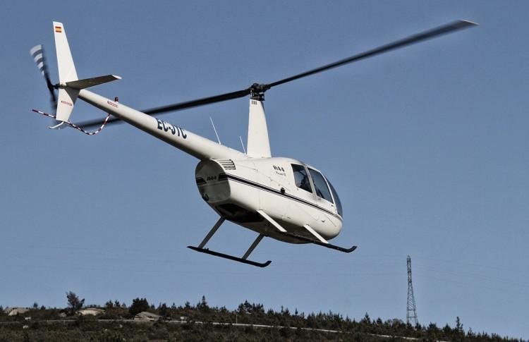 Un paseo en helicóptero en Galicia.