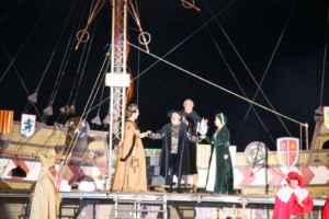 Desembarco del rey en Laredo