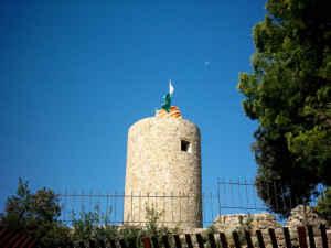 En el castillo de Sant Joan de Lloret de Mar