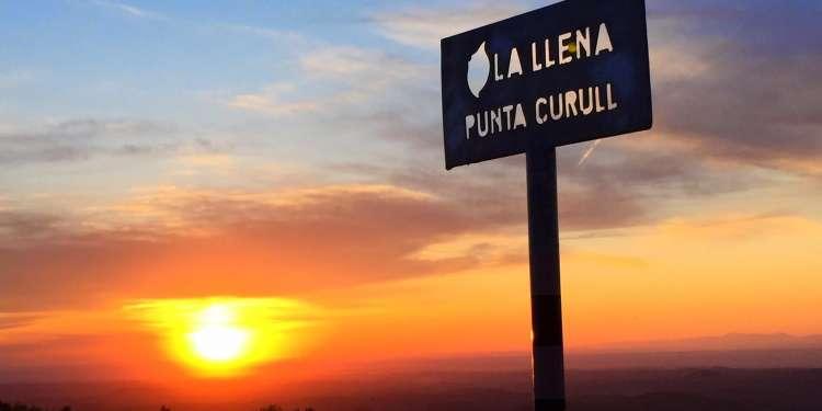 Excursio el curull vista posta de sol