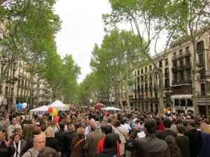 La fiesta de Sant Jordi desde dentro