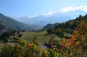 EL valle de Tena desde un camping