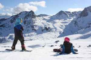 San Valentín en la nieve y de camping
